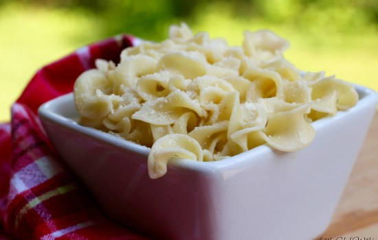 Cheesy Garlic Buttered Noodles