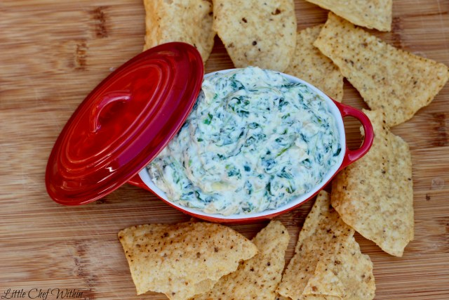 Creamy Artichoke and Spinach Dip-LittleChefWithin.com