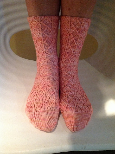 Diamond Tracings Socks by Kathleen Taylor