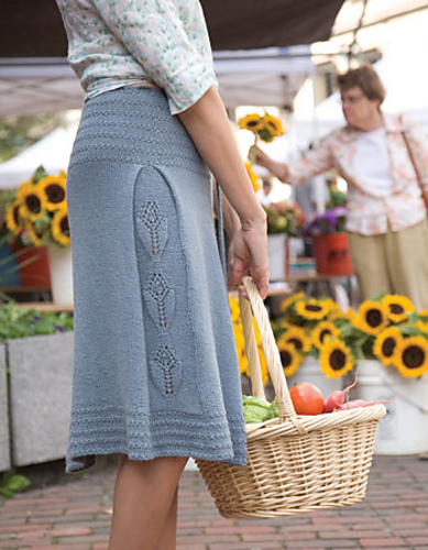 Soft Linen Single Gore Skirt by Gudrun Johnston