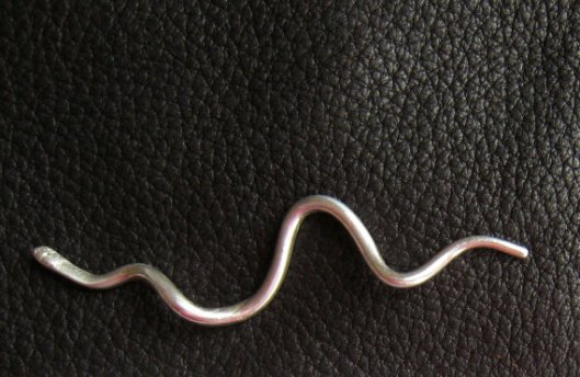Curlicue Asp Shawl Pin by Jenny Buttons