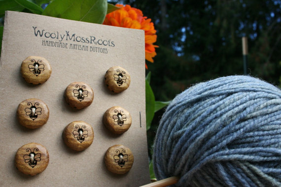 Wooly Moss Roots Buttons on Etsy