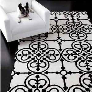 white-black-rug