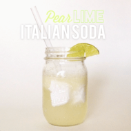 PEAR LIME ITALIAN SODA