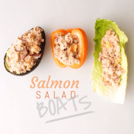 SALMON SALAD BOATS