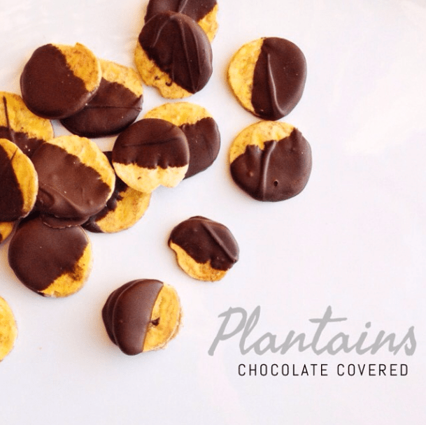 Chocolate Covered Plantains
