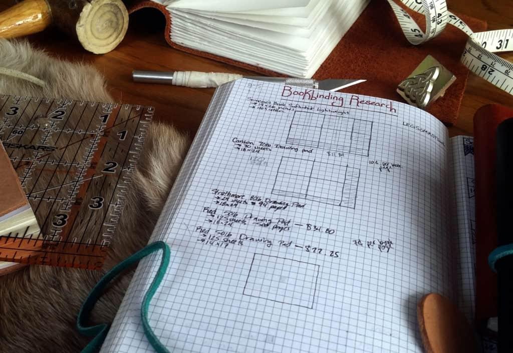 how to be a better hobbyist with the bullet journal bookbinding materials | Littlecoffeefox.com