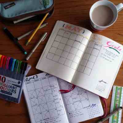 Setting Up a New Month in the Bullet Journal – May