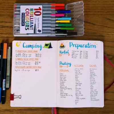 My Bullet Journal Camping Planner