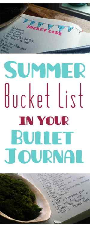 Long title image for Summer Bucket List in your Bullet Journal