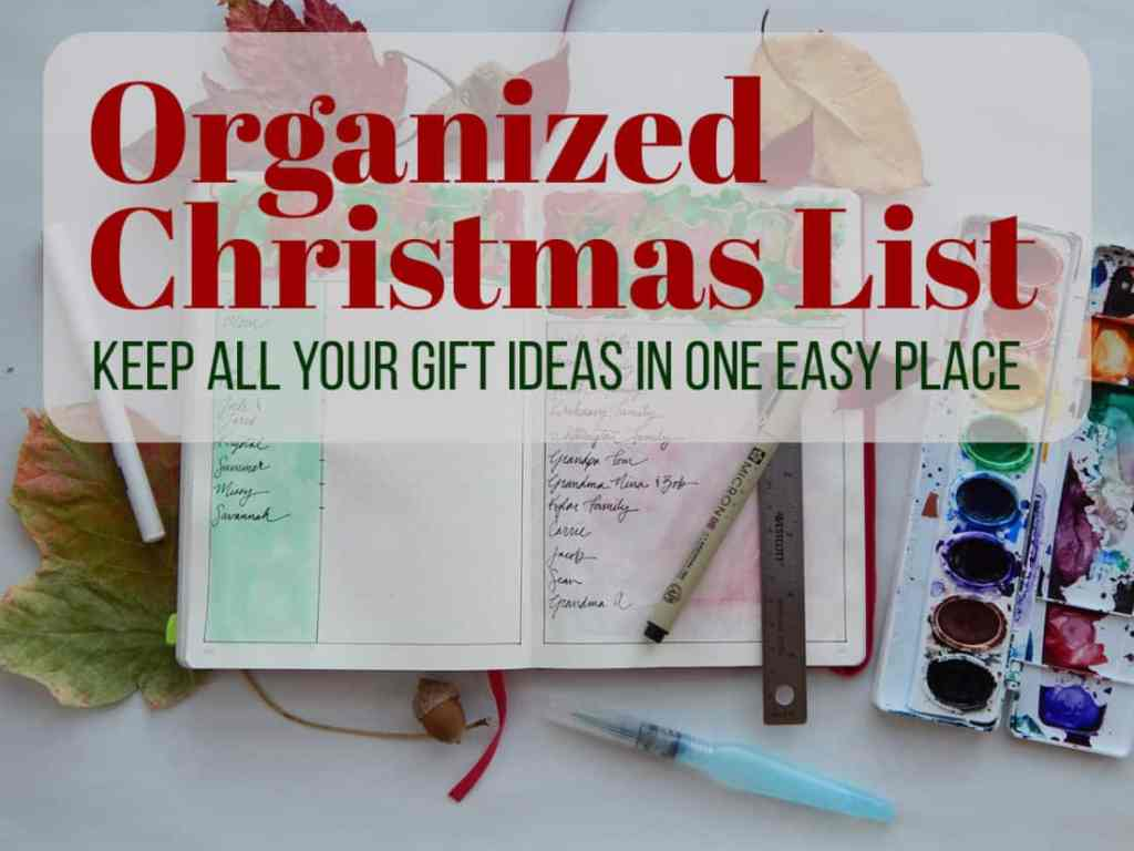 The Christmas season can be a bear, but you can get ahead of it with an organized Christmas list. Then you can simply jot down great gift ideas as they happen naturally throughout the year and keep them all in one safe place. That way you don't have to scramble and panic about what to get for your loved ones!