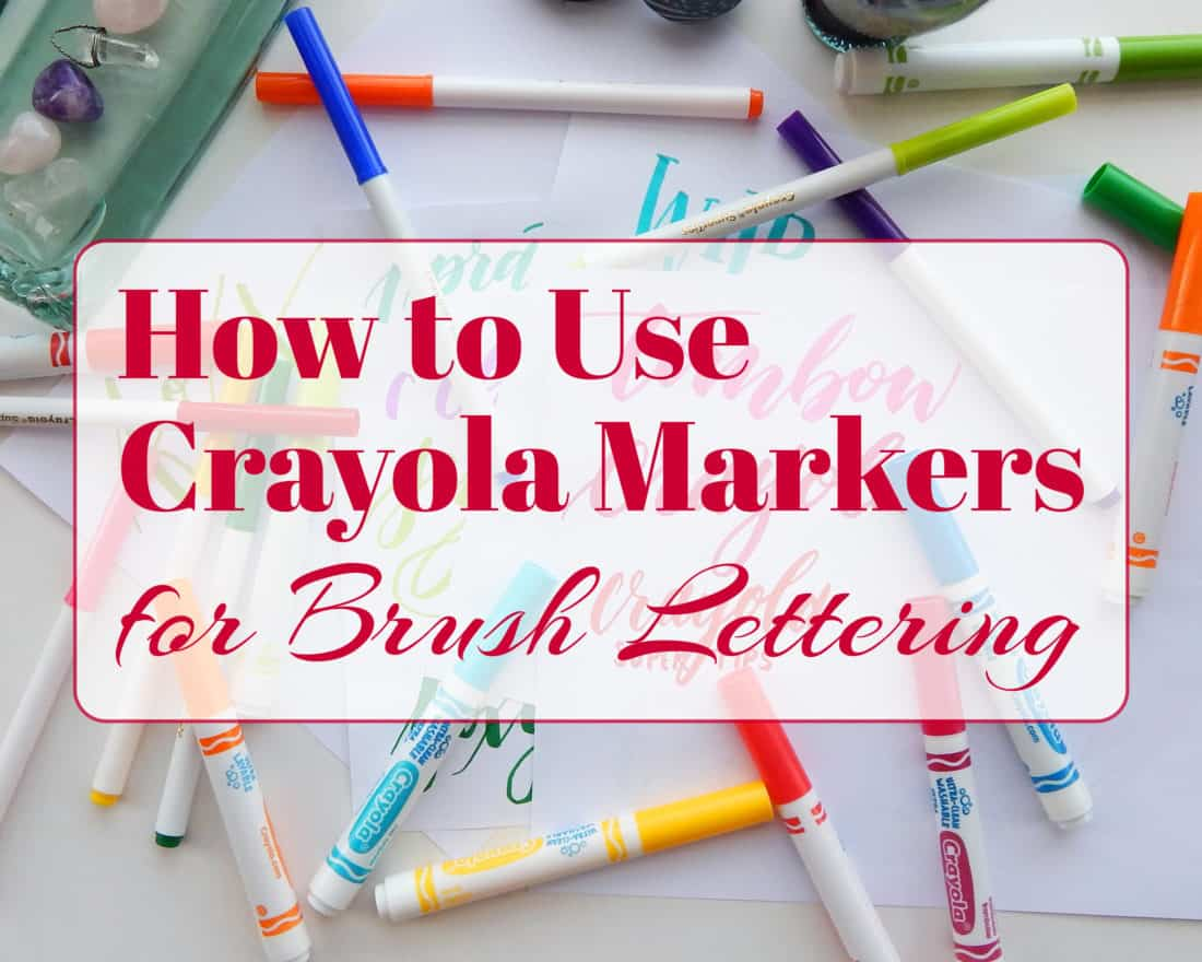 How to use crayola markers create modern brush