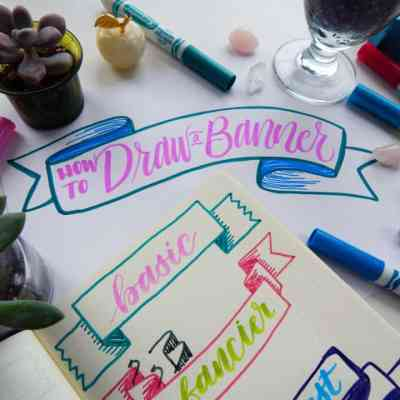How to Draw a Banner – 3 Simple Banners to Jazz Up Your Journal