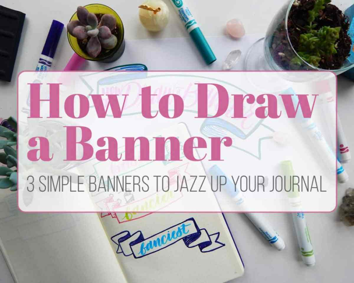 Whether you want to make better banners for your bullet journal, planner, doodles, notes, or something else, this tutorial will tell you exactly how to draw a banner with great ease. All it takes are a few simple principles put into action and you are all set to create gorgeous banners to your heart's content!