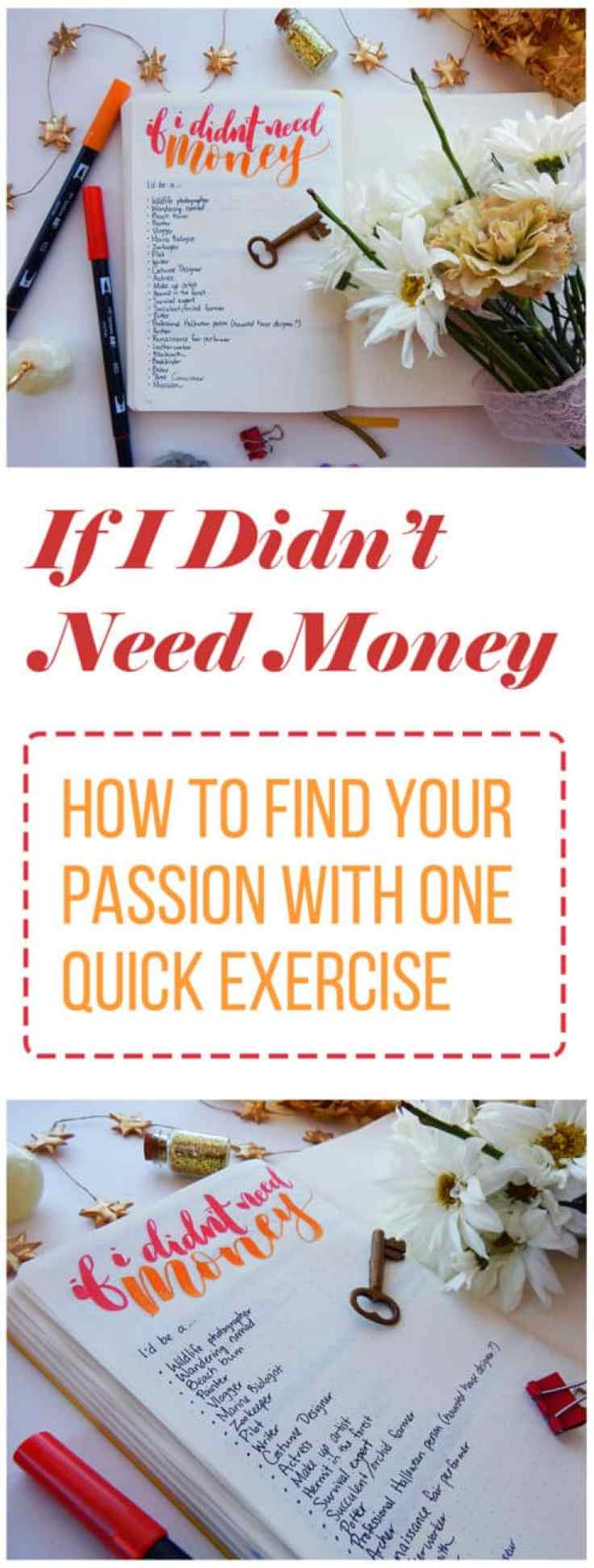 Sometimes it can be hard to figure out how to find your passion, whether that passion is a career or a hobby. There are so many options, and you have to consider how practical it might be. This super simple exercise will take less than 20 minutes and get you past these blocks to help you see what your heart wants!