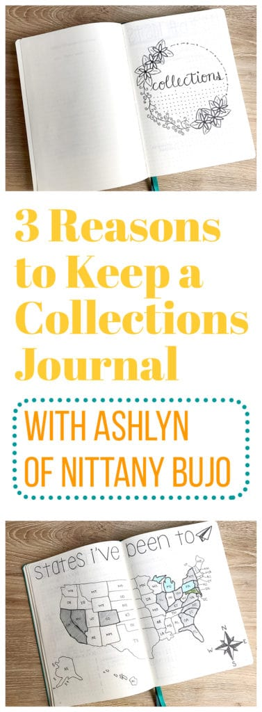 Keeping a collections journal outside of your bullet journal has lots of benefits. It's one of the most useful things I've done!