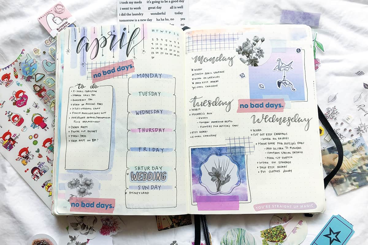 4 Beautiful Bullet Journal Tips For People Who Can T Draw