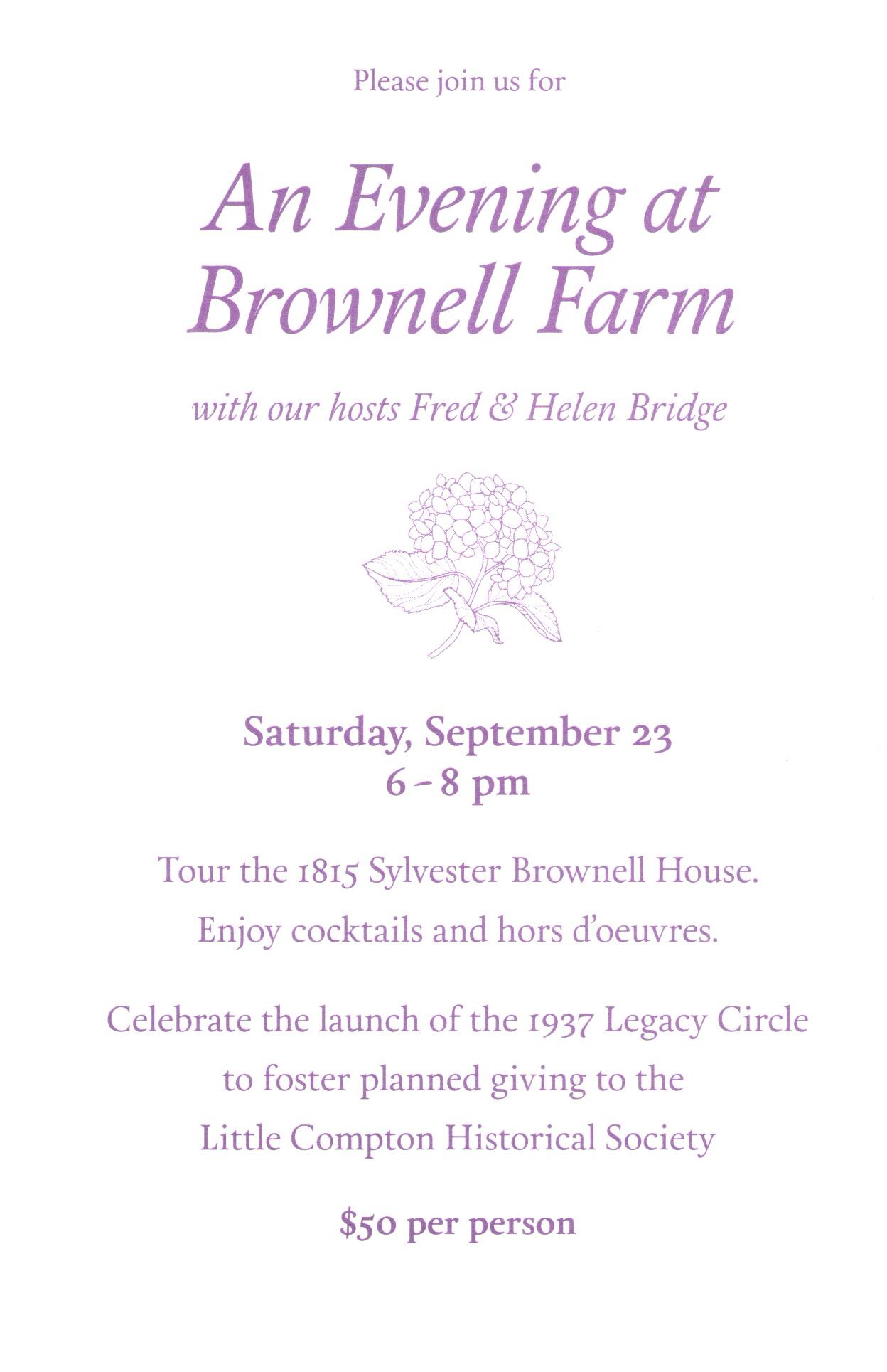 Brownell Farm Invite