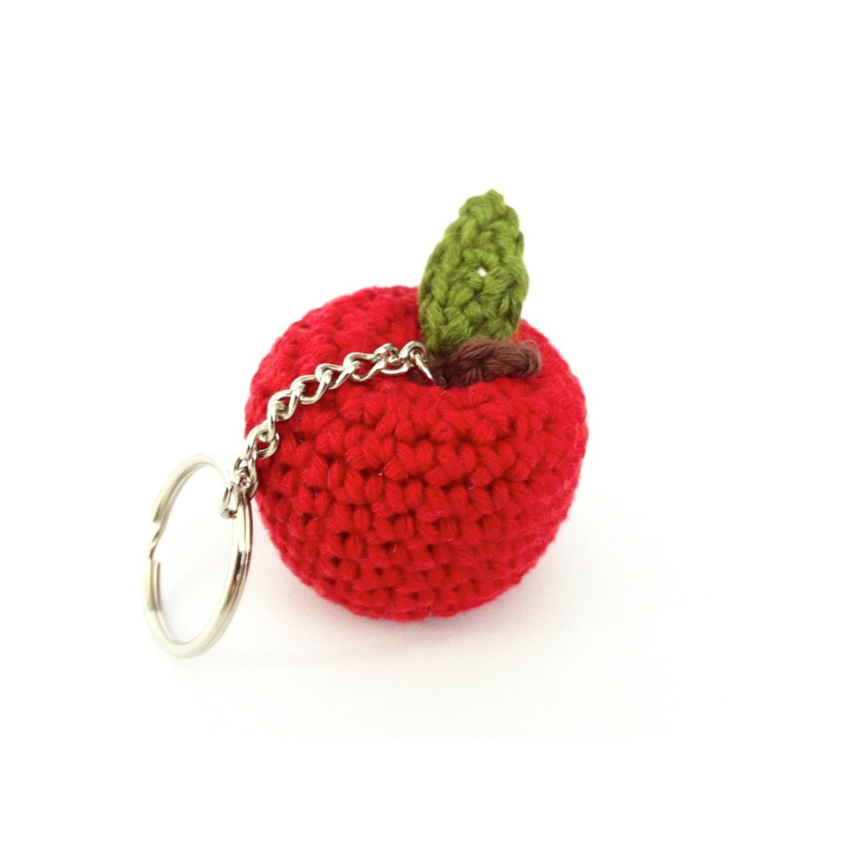 Eco-friendly Handmade Apple Key Fob