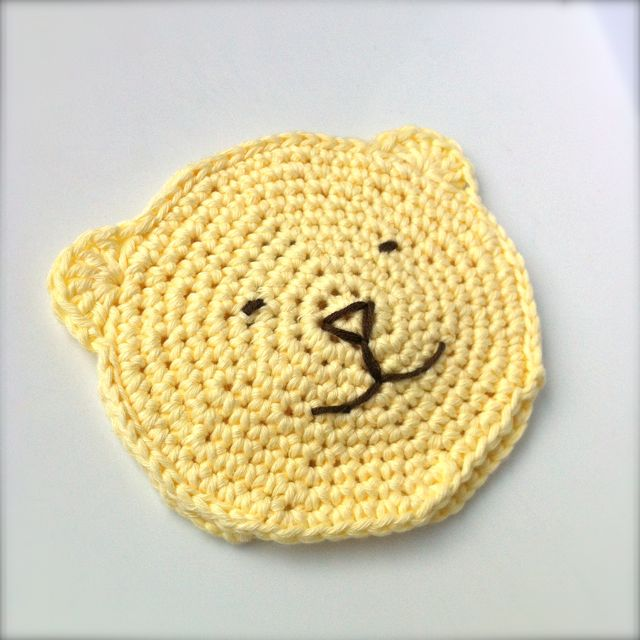 Crocheted Toddler Wash Bear Mitt
