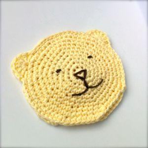 Crocheted Toddler Wash Bear Mitt