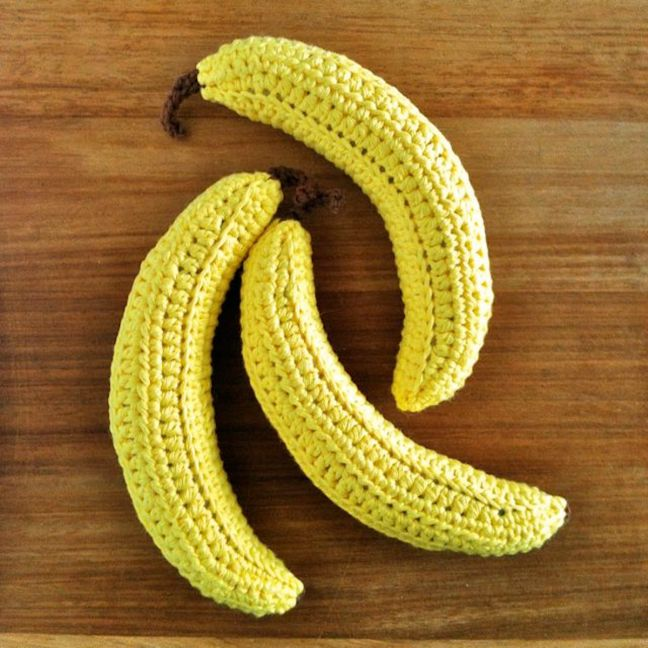 Picture of crocheted bananas