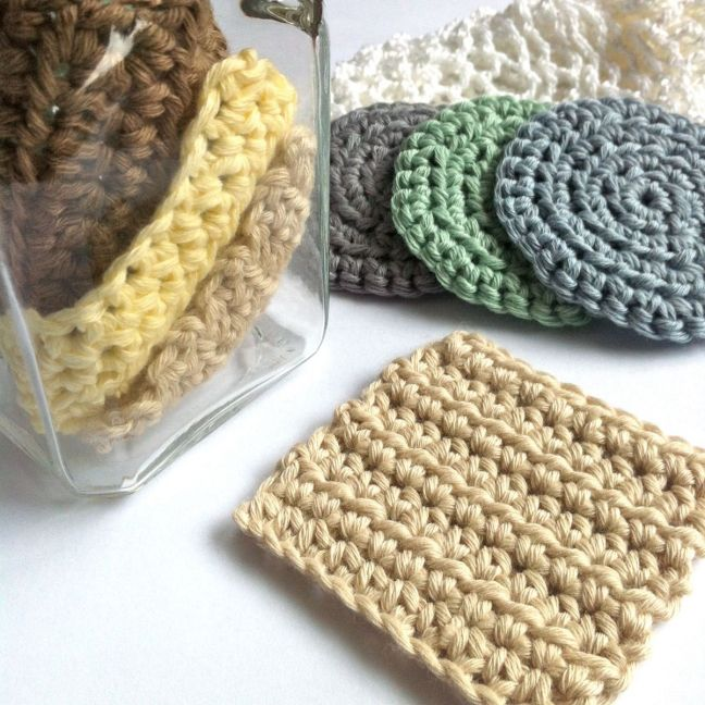 Crocheted Scrubbies made to an original Little Conkers pattern