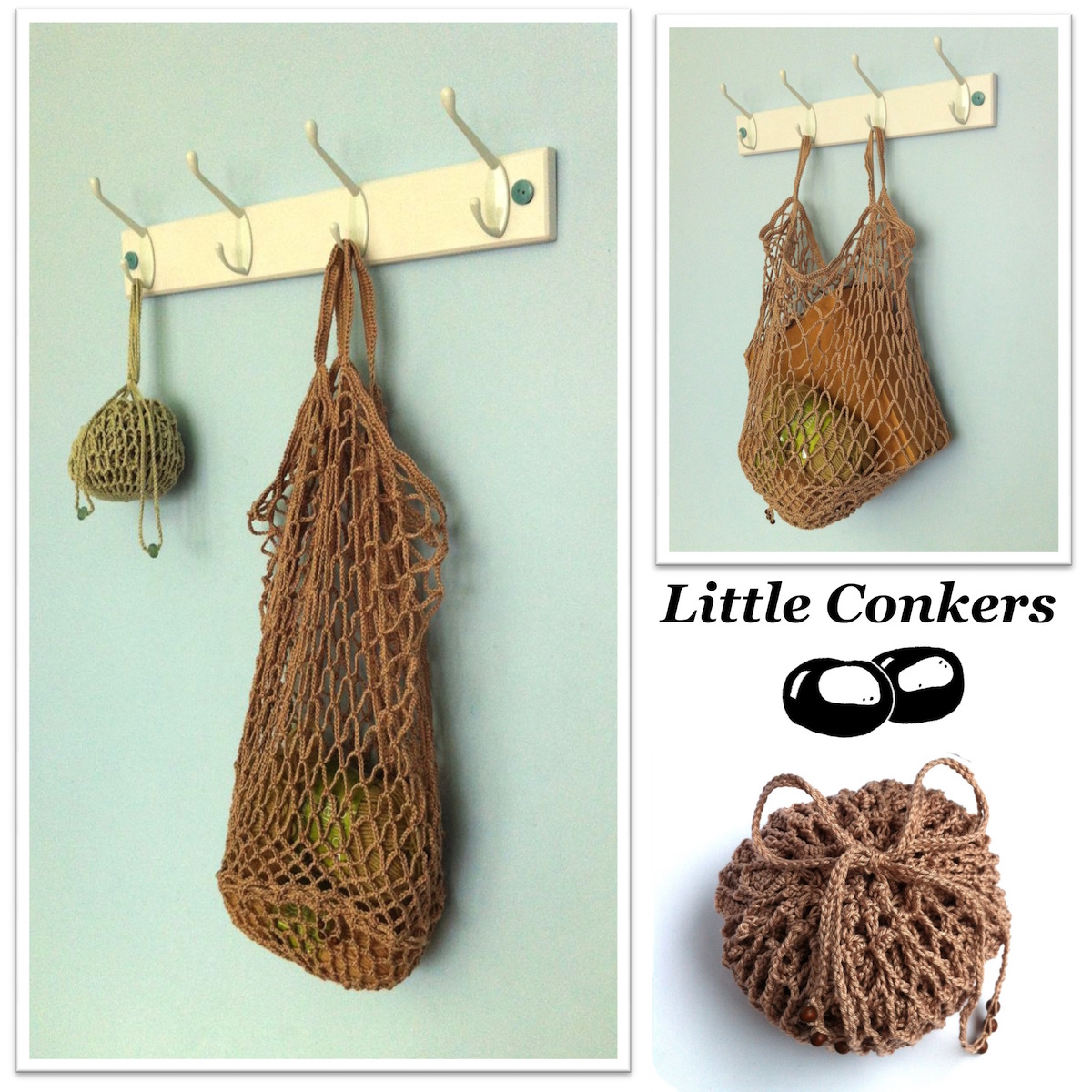 Crocheted Bag made to an original Little Conkers pattern