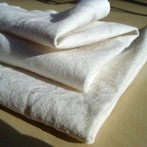 Baby wipes and handkerchiefs in flannelette