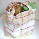 Simple sewing pattern for a tote bag