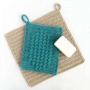 Crochet wash mitt and washcloth patterns