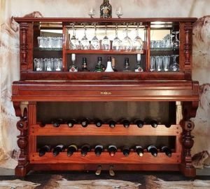 Upcycling a Piano into a Dinks Cabinet.