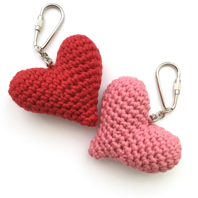 Organic Cotton Heart Key Fobs