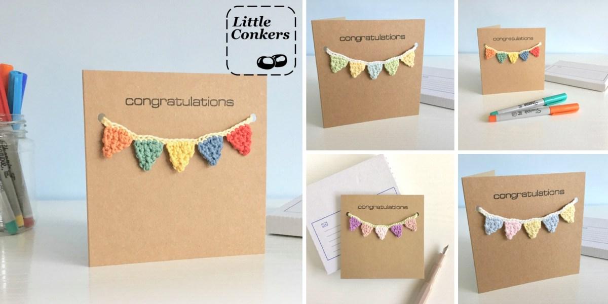 Crochet Bunting Greetings Cards