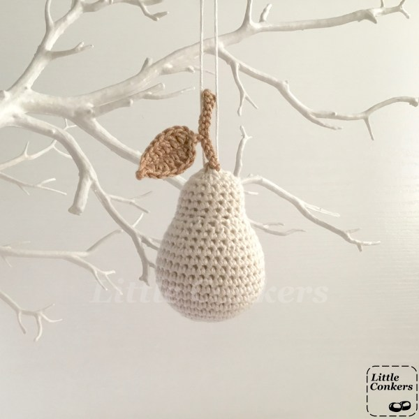 White Hanging Pear Ornaments