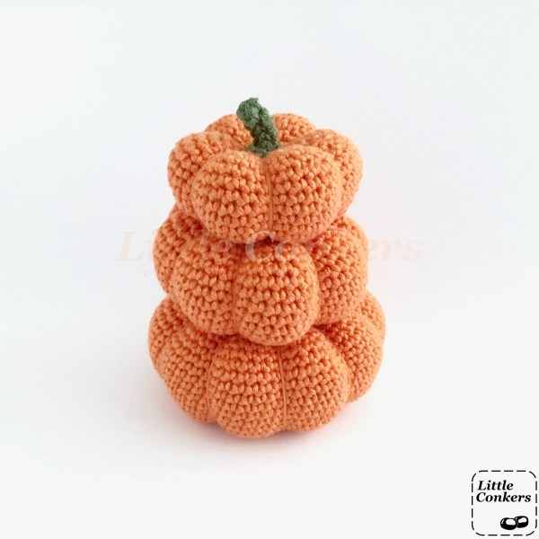 Crochet mini pumpkin ornaments