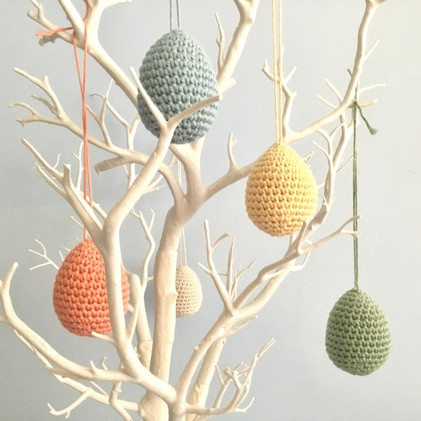Handmade Organic Cotton Egg Ornaments