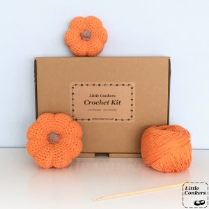 Pumpkin Crochet Kit by Little Conkers