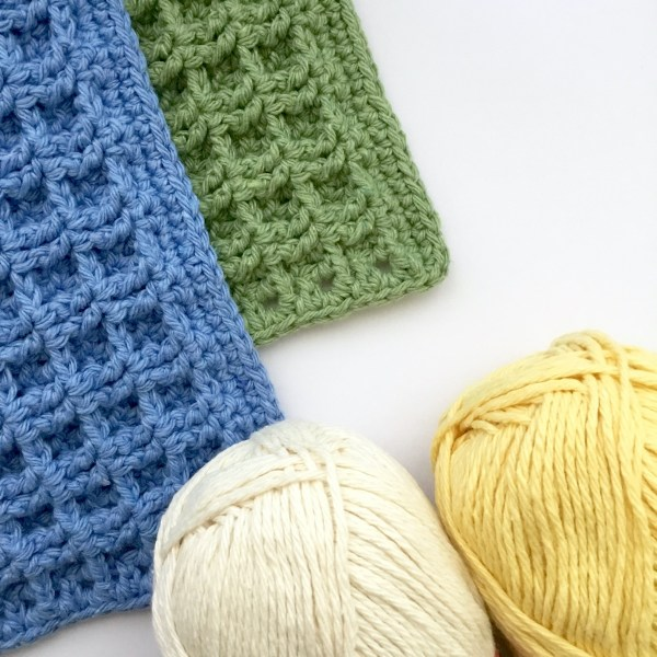 Recycled yarn colour choices for the crochet dishcloth kit