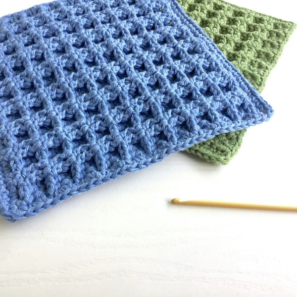 Crochet Pattern for a Waffle Stitch Dishcloth