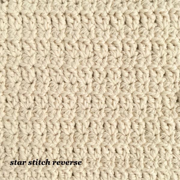 Crochet star stitch front