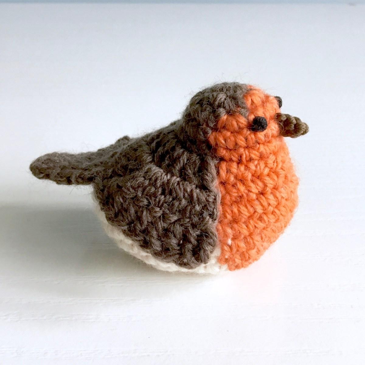 Crocheted Robin from Little Conkers Pattern