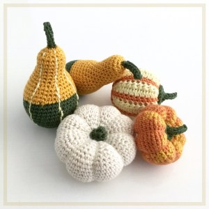 Pumpkin and Gourd Ornaments