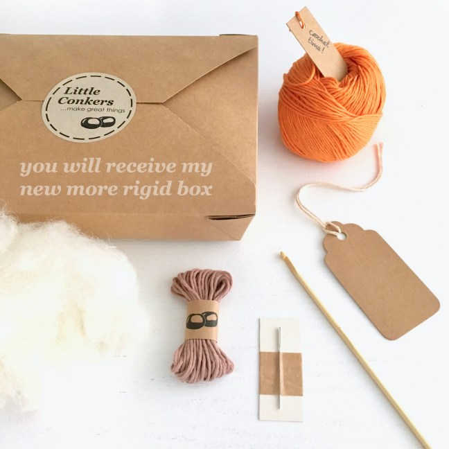 Pumpkin crochet kit contents