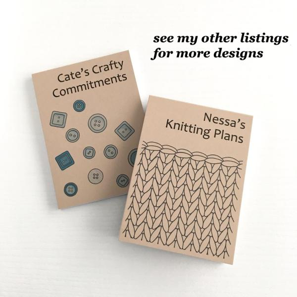 More knitting and craft notepad designs