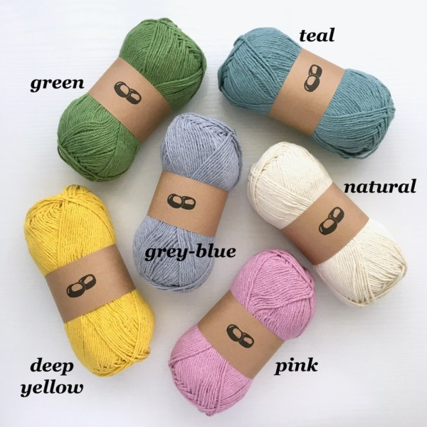 Recycled cotton yarn for dishcloths