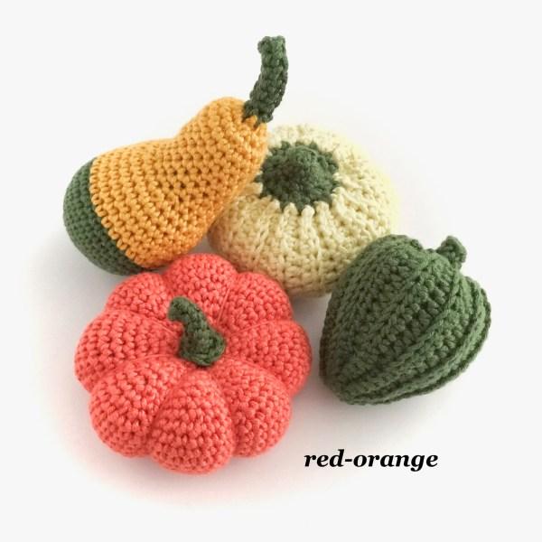 Crocheted Pumpkins and Gourds