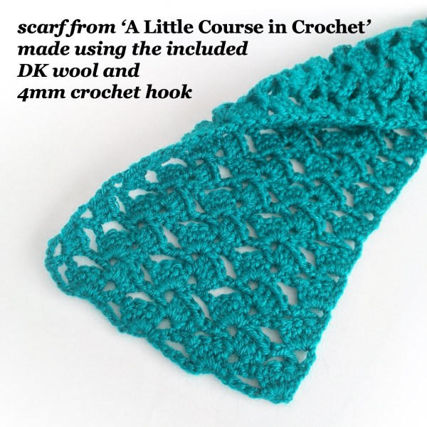 Beginner crochet scarf project