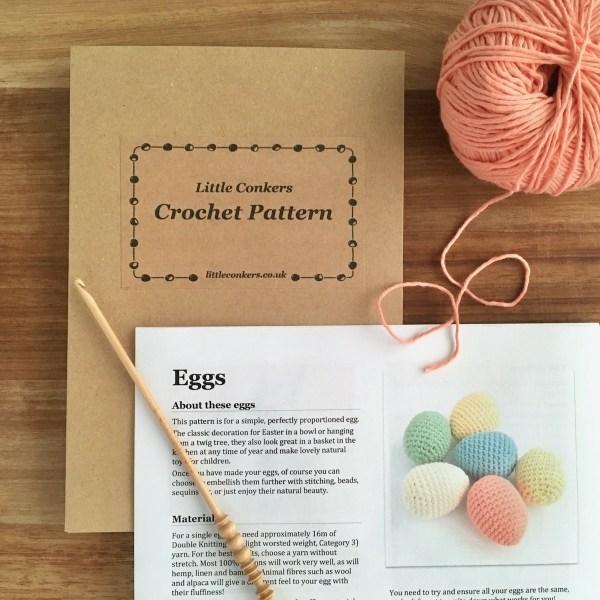 Crochet egg pattern by Little Conkers