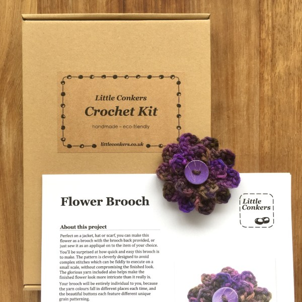 Flower Brooch Crochet Kit